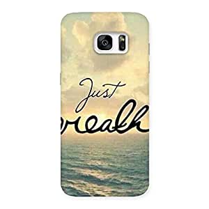Ajay Enterprises True Just Breath Back Case Cover for Galaxy S7 Edge