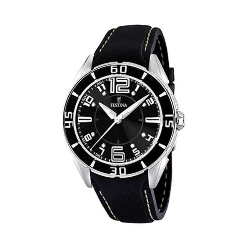 FESTINA F16492/6 - Reloj de mujer de cuarzo, correa de plástico color negro