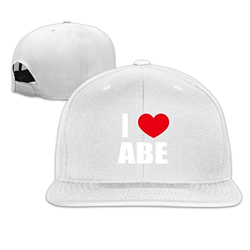 manwoman-i-love-abe-i-love-abraham-heart-flat-bill-hat-white
