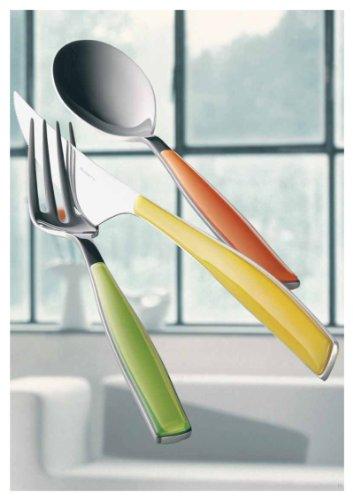 Bugatti - Orange Glamour Cutlery set - 24 pieces - 18/10 Stainless steel