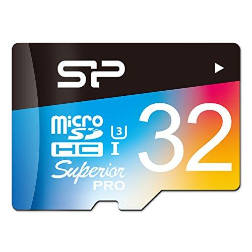 シリコンパワー microSDHCカード 32GB U3 4K動画 最大読込...