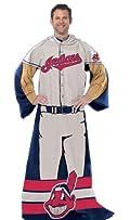Cleveland Indians Comfy Snuggie Blanket Full Player New Design