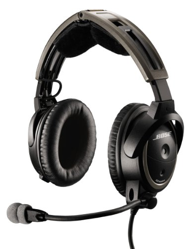 Bose® A20 Aviation Headset (Battery-powered, NO Bluetooth, Electret mic, Straight cord, Twin plug)