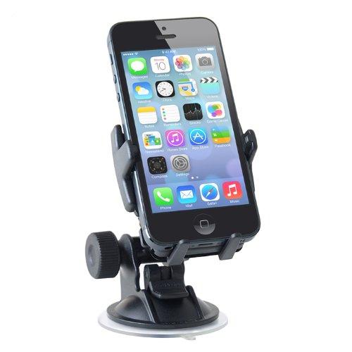 【iPhone、スマートフォンの車載ホルダー】リヒター・スターターキット1(ミニ・スマートグリッパー + スイベルサクション・ミニ4QFセット)