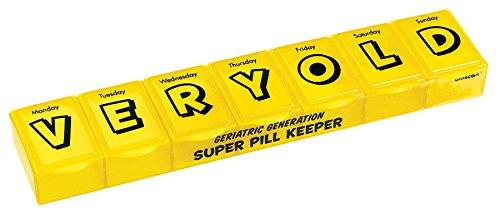 "Amscan Humorous Giant Pillbox, Yellow, 2"" x 10"" x 1"" - 1"