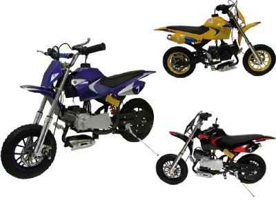New 49cc 2-stroke Gas Motor Mini Dirt Pit Pocket Bike Scooter Blue