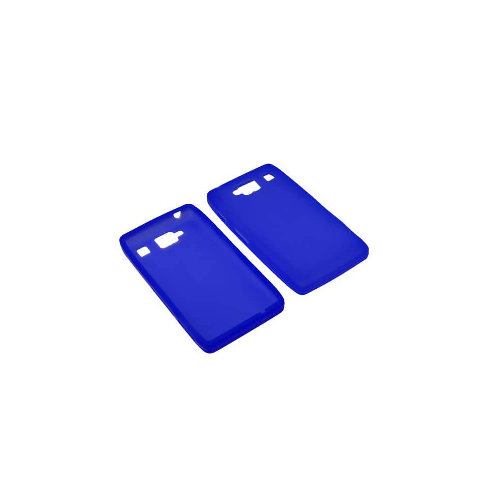BW Silicone Sleeve Gel Cover Skin Case for Verizon Motorola Droid RAZR MAXX HD XT926M Blue Cell Phones & Accessories