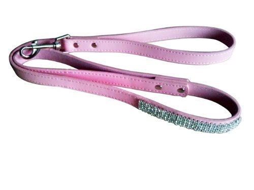 Deliver in 2-8 days!- SKL Hot Pink Pet Collar with Sparkly Rhinestone for Cats or Dogs (Dog Leash (S)) (Skl Hot Pink Pet Dog Leash compare prices)
