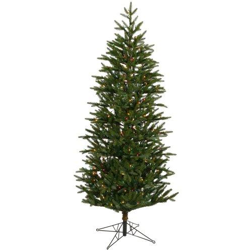 75 pre lit slim profile holland frasier artificial christmas tree multicolor - Pre Lit Christmas Tree Reviews