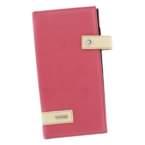 Rolodex snap buckle pink tan 96 count business card holder book rolodex snap buckle pink tan 96 count business card holder book 81825 colourmoves