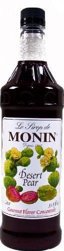 Monin Desert Pear Gourmet Flavoring Syrup 1 Ltr Plastic Bottle