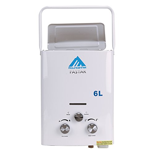 Ridgeyard Outdoor Portable 6L (1.6GPM) LP Gas Portable Lightweight Instant Tankless Water Heater Boiler and Outdoor Shower + Shower Head Great for Camping, Small Homes, RV's, Sailboats & Cabins (Camper Pressure Reducing Valve compare prices)
