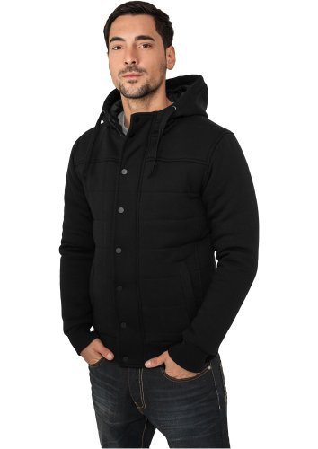 Urban Classics felpa uomo giacca invernale TB430, colore: Nero;Dimensioni: L