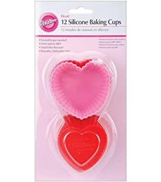 Heart Shape Silicone Baking Cups