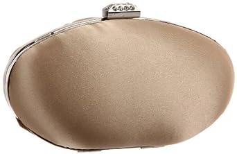 Magid Satin Oval Box E7051 Clutch,Champagne,One Size