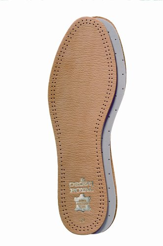 Pedag 102 Royal Vegetable Tanned Sheepskin Insole with Natural Active Carbon Filter, Slightly Padded with Latex Foam, Tan Leather, Women's 7