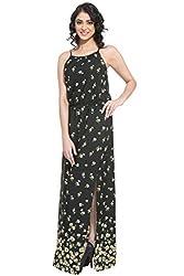 Purys Women's Maxi Dress (E-150649SP-5636_Black _S)