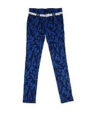 Bodingo Girls' Slim Pant (Bodingo1412B_Blue_10-11 Years)