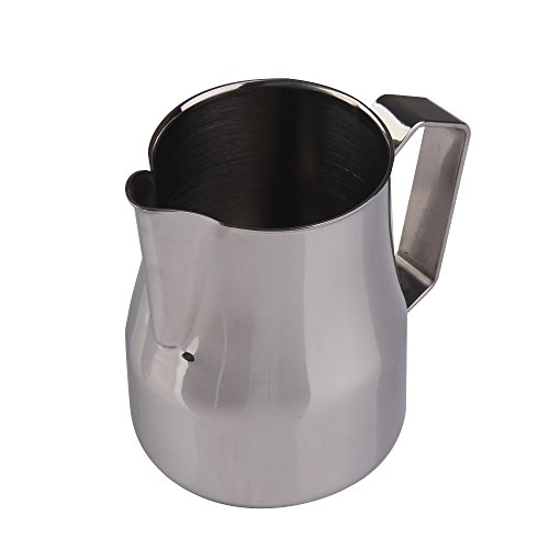 chinatera stainless steel frothing pitcher for espresso machines milk frothers u0026 latte art 350cc home garden kitchen dining kitchen appliance accessories