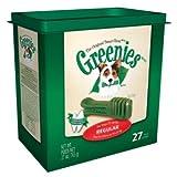 Greenies Dental Chews for Dogs, Regular, 36-Ounces, 27-Treat