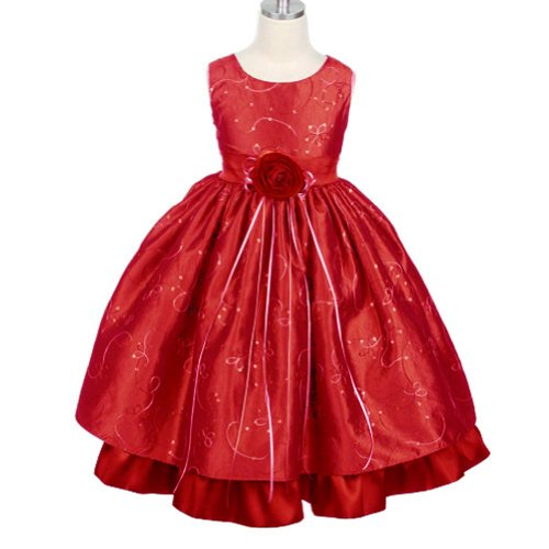 Size 3/4 Red - Girls Christmas Holiday Dress (Assorted Colors) Size Toddler To 12