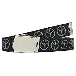 Military Style Thick Canvas Colored Belt With Silver Sliding Buckle 45