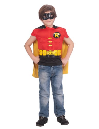 Kids-Costume Robin Muscle Shirt With Cape Child Costume Halloween Costume