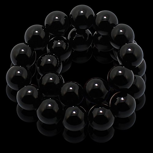 Natural-Genuine-Black-Onyx-Gem-Beads-maxin-Bling-Jewelry-8MM-Semi-Precious-Gemstones-Energy-Stone-Healing-Power-Pink-Crystal-elastic-Stretch-Stone-Loose-Bracelet-Set-Unisex