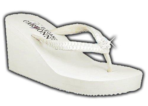 Bridal Flip Flops Wedge
