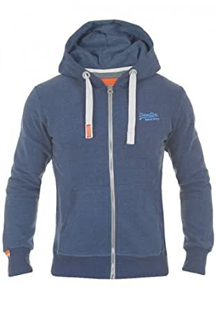 Superdry Orange Label Herren Hoodie Zip Jacket Sweatjacke, Größe:L;Farbe:Midnight Marl