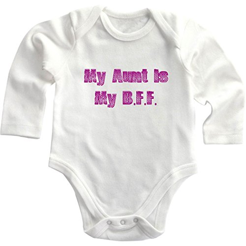 My Aunt Is My B.F.F Infant Toddler Long Sleeve Baby Bodysuit Creeper Newborn front-715069