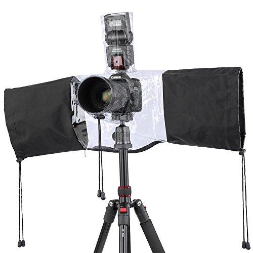 Neewer® Protettore Pioggia per Fotocamera Copertura Impermeabile per Fotocamera Reflex  Digitale, include Canon Rebel T5i T4i T3i T3 T2i T1i XS XSi XT XTi SL1, EOS 700D 650D 600D 550D 500D 450D 400D 350D 1100D 1000D 60D 60Da 50D 7D 5D series Nikon D7100 D7000 D5200 D5100 D5000 D3200 D3100 D3000 D90 D80