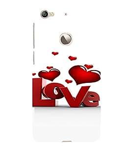 PrintVisa Love Hearts Design 3D Hard Polycarbonate Designer Back Case Cover for LeEco Le 1S