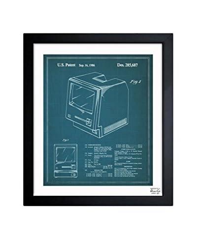 """Oliver Gal """"Apple Macintosh 128K 1986"""" Framed Art"""