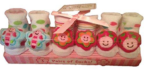 Flower Rattle Socks in a Box