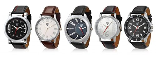 Rico Sordi analog Men's Leather Watches Set of 5 (RSD18_S5_1_RSD18_S5_1)