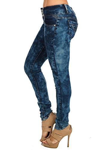KABA Tie-Dye Low Rise Three-Button Skinny Jeans 10987N (Tie Dye Jeans compare prices)