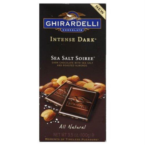 Ghirardelli Chocolate Intense Dark Bar, Sea Salt Soiree, 3.5 oz (Ghirardelli Sea Salt Chocolate compare prices)
