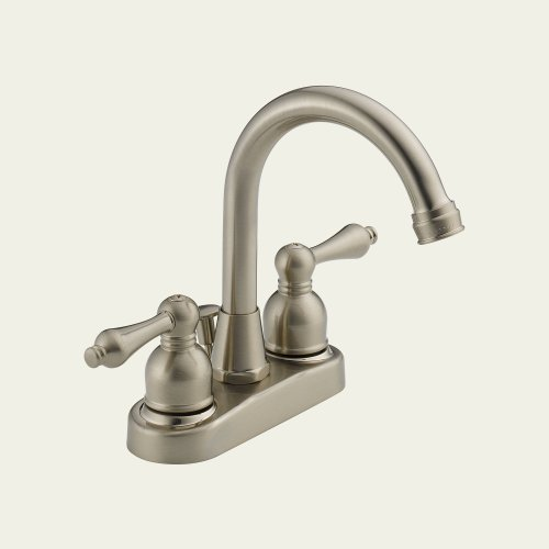 Review Of Peerless WAS00X Two Handle Centerset Lavatory Faucet with Drain Assembly, Satin Nickel