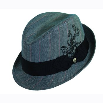 Rocker fedora hat with satin lining