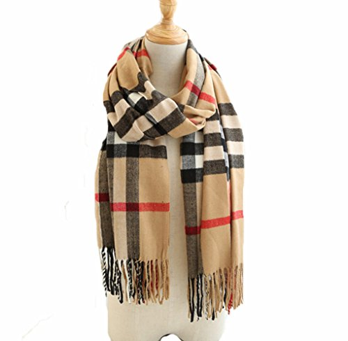luxury-high-quality-large-thick-heavy-designer-style-check-scarf-shawl-beige