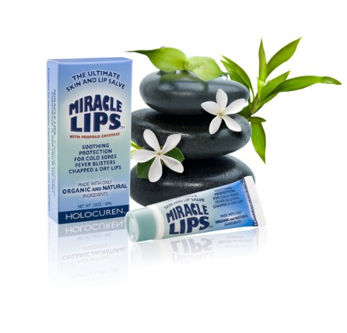 Daily Miracle Lips Salve 2 Pack W/Propolis Tea Tree Oil Cold Sore Remedy Promo