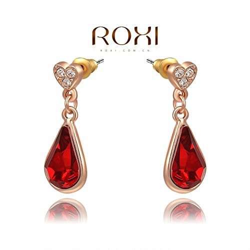 E-FASHION Christmas Gift Red Crystal Earrings