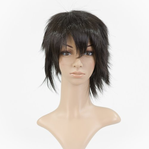 Black Anime Costume Cosplay Short Length Cut Wig