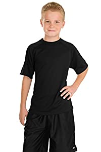 Sport-Tek - Youth Dry Zone; Raglan T-Shirt. >> XS,Black