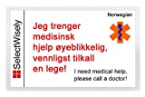 Travel Emergency Translation Card - Translated in Croatian or any of 67 languages