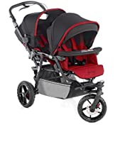 Twin Pushchair Double Twin Stroller Powertwin Pro S53 Red Jané from Jané