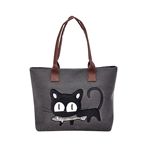 sac-a-main-feitong-mode-feminine-bandouliere-sac-de-toile-chat-mignon-sac-lunch-bag-noir