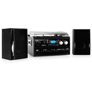 Auna chaine stereo hifi complete avec double cd enregistreur cassettes et p - Chaine hifi avec platine vinyle ...