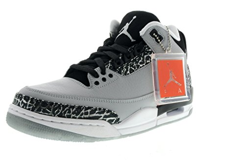 Images for Men Nike Air Jordan 3 Retro Wolf Grey/Metallic Silver-Black-White 136064-004 Size 7.5 D(M) US